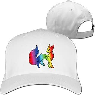 Cute Rainbow Fleet Fox Sport Snapback Peaked Hats Black Unisex