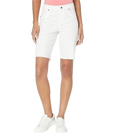 HUE Ultra Soft Denim High-Rise Bermuda Shorts