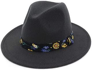 Bin Zhang Wide Brim Autumn Female Fashion Top Hat Jazz Cap Winter Fedora Hat Artificial Wool Felt Caps 2018 Black Hats For Women