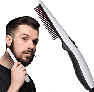 WIDEWINGS Men's and Women's Quick Electric Hair Comb Women Short Hair Straightening Styling Iron Men's Electric Hair Straightener Brush Curly Hair Straightening for Beard Style