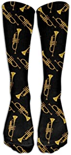 Men&Women Trumpet Casual Mid-calf Calcetines Casual Sports Novelty Below Knee Tube Stockings One Size