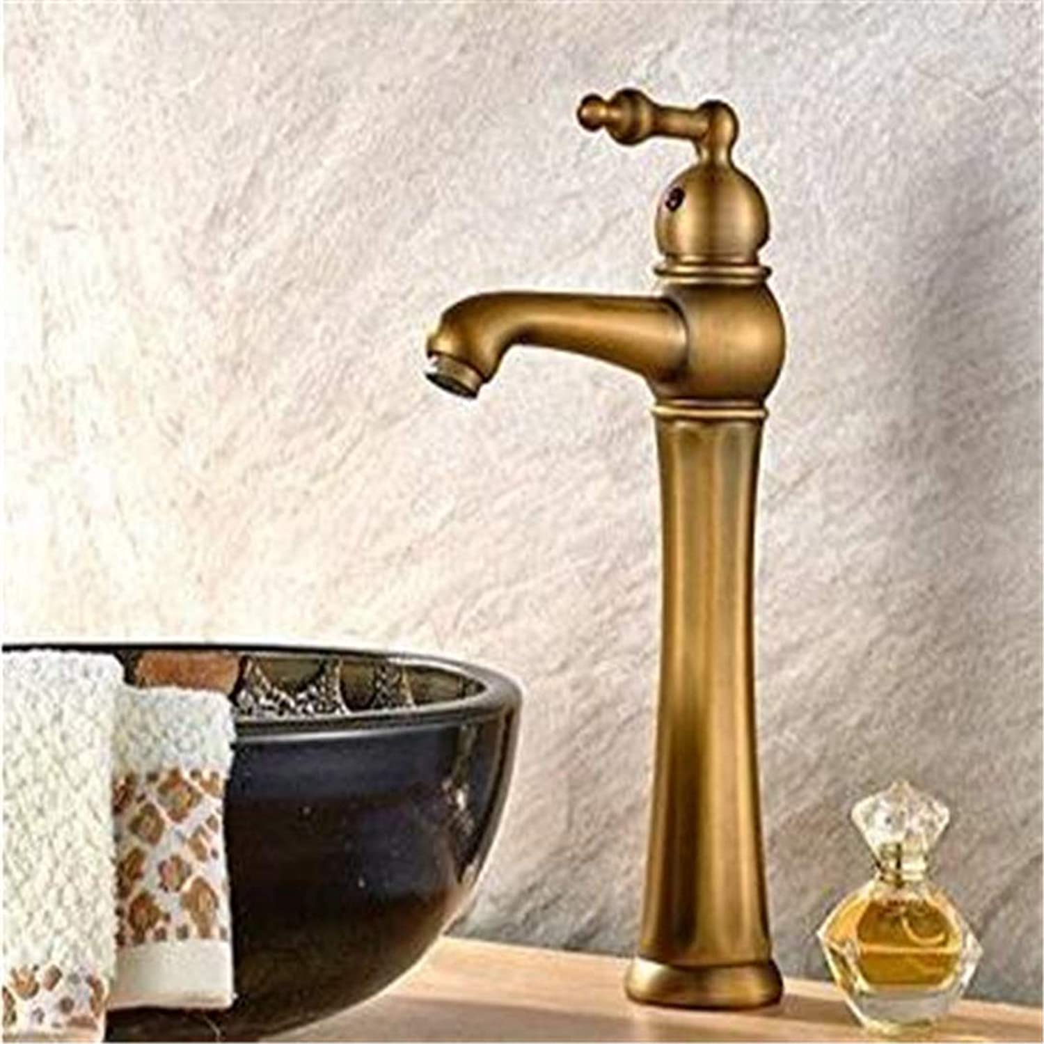 Double Handlefaucets Basin Mixer Faucet European Antique Bronze Wash Basins Basin Pots Home Basin Faucet Hot and Cold Wash Basin Faucet