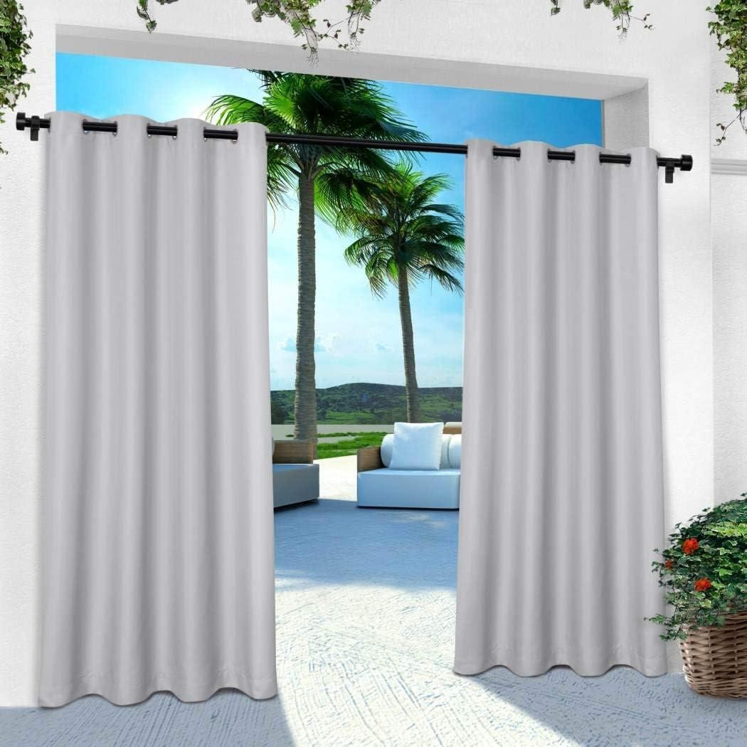 Large discharge sale 2pc s 84 Cloud Grey Color Gazebo Fashionable Solid Set Curtains C Gray Pair