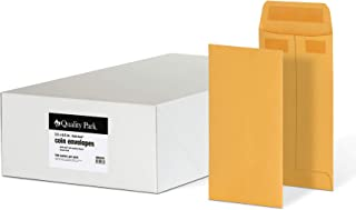 Quality Park #7 Coin and Small Parts Envelopes, Self Seal, for Home, Office, Garden, 24 lb Brown Kraft, 3-1/2 x 6-1/2 Inch...