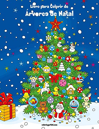 Livro para Colorir de Árvores de Natal: 1