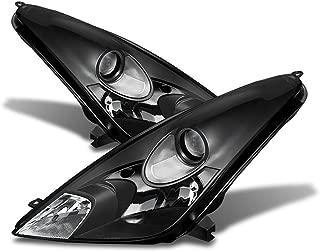 ACANII - For 2000 2001 2002 2003 2004 2005 Toyota Celica Blk Headlights lamps Driver + Passenger Side