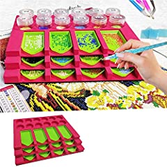 Magic Diamond Tray Organizer: 1PC diamond painting Tray Organizer is 3 layers stagewise tray tower designed. makes diamond painting arts crafts funny and easier. It's a ideal gifts for kids or adults. Diamond Painting Accessories: The Multi-boat has ...