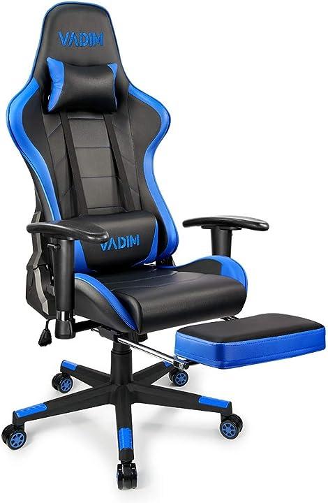 Sedia gaming vadim ergonomica girevole con rotelle, altezza regolabile e supporto lombare carico 150 kg ZS#QTHB0101