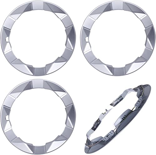 new arrival 15 inch Hubcaps Best for 2004-2009 Toyota Prius - (Set of 4) Wheel Covers 15in Hub Caps SIlver Rim popular Cover - Car Accessories for 15 inch Wheels - outlet online sale Snap On Hubcap, Auto Tire Replacement Exterior Cap) online