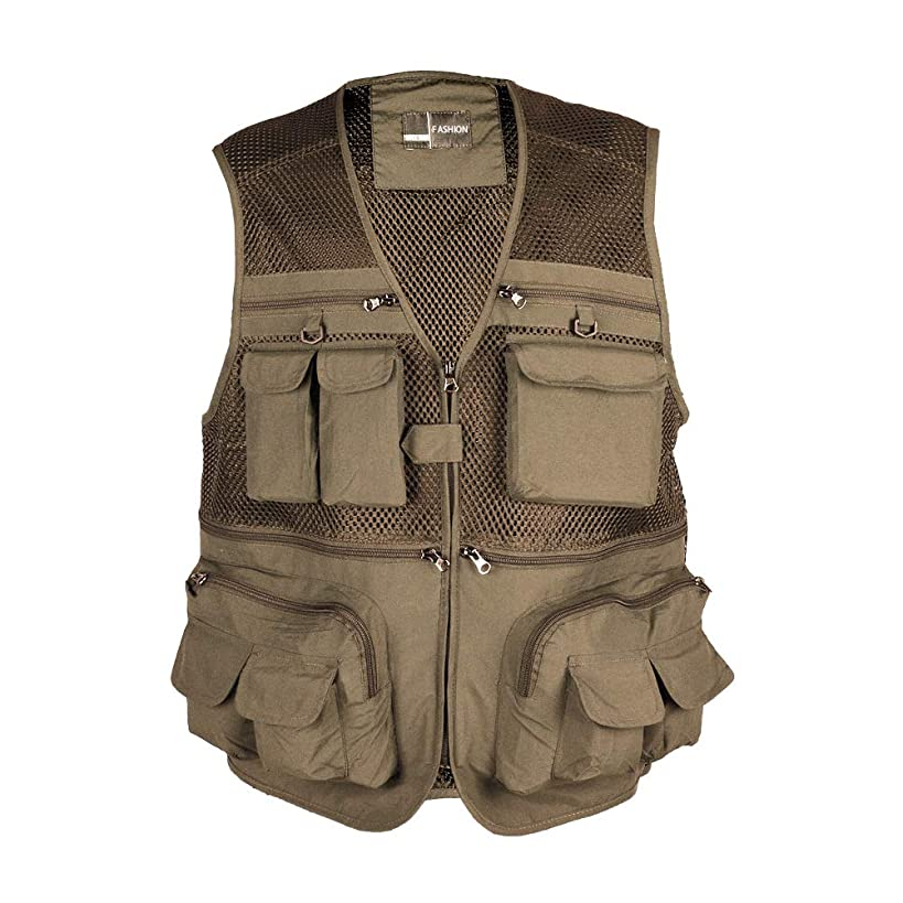 Rainbow Finch Fly Fishing Photography Vest with Pockets Men's Mesh Quick-Dry Waistcoat Outdoor Jackets for Travelers fll6649843591083