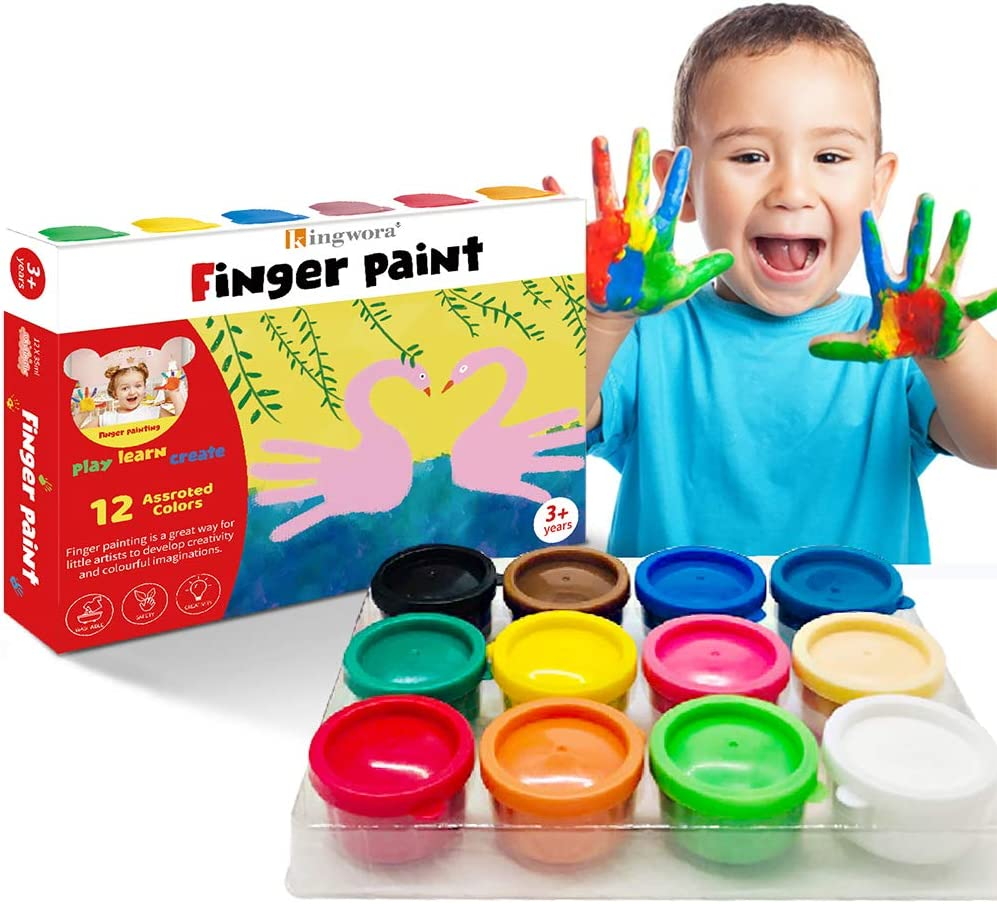 Finger Ranking TOP9 Paint For Toddlers Non-Toxic Free shipping on posting reviews Washable Bright 12 P Colors
