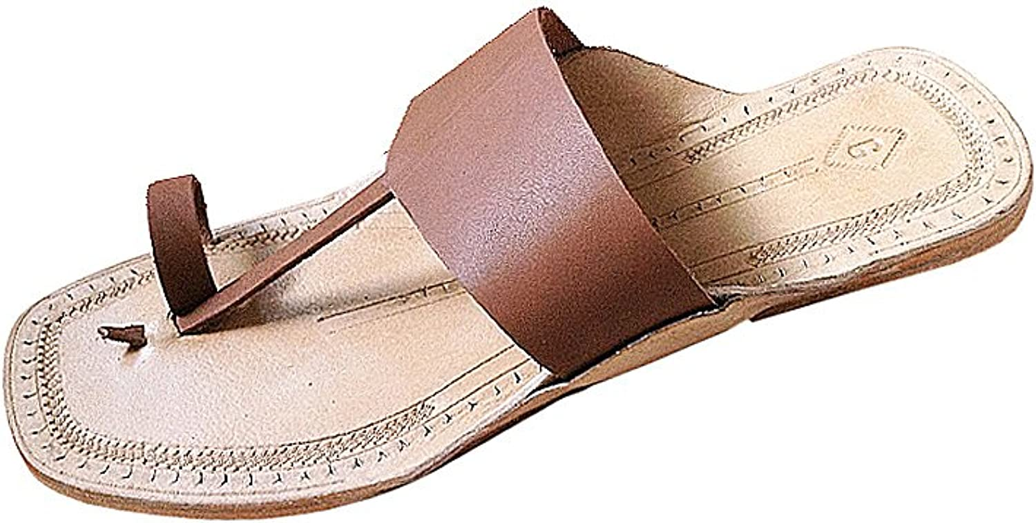 KOLHAPURI CHAPPAL Original Pleasant Brown Triangular Belt Slipper Sandal