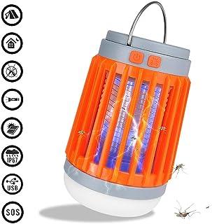 KIKIGO Lámpara Antimosquitos USB Antimosquitos Atrapa,Lámpara Anti-Mosquitos, Lámpara Anti-Mosquitos Impermeable para Exteriores, Repelente De Mosquitos Doméstico Multifuncional Carga USB