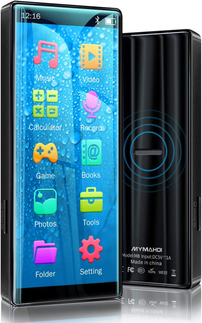 MYMAHDI Built-in 32GB MP3 Player with Bluetooth 5.0, HiFi Lossless Sound Player, Built-in Speaker, High Resolution and Full Touch Screen with FM...
