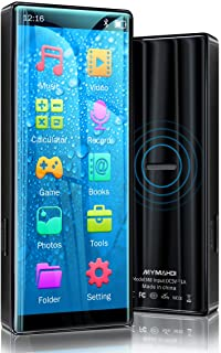 MYMAHDI MP3 Player with Bluetooth 5.0, High Resolution and Full Touch Screen, Built-in Speaker, 8GB HiFi Lossless Sound Pl...