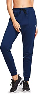 Women's Jogger Sweatpants Warm Fleece Lined Lounging Pants Running Workout Active Pants with Pockets