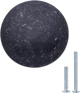 "AmazonBasics Round Cabinet Knob, 1.57"" Diameter, Antique Silver, 25-Pack"