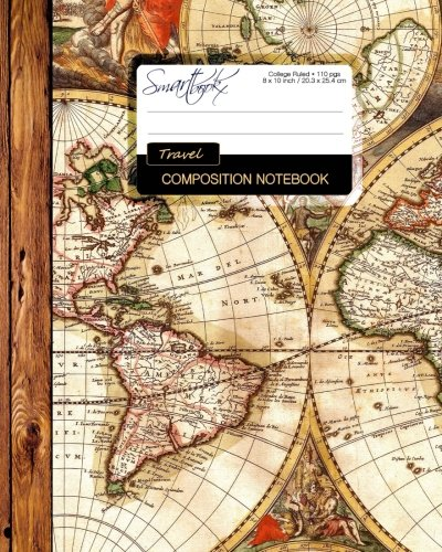 Travel Composition Notebook: Large College Ruled Writer's Notebook [Lingua Inglese]