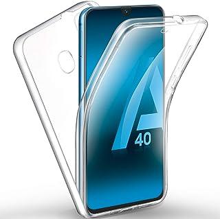 88de300b05e AROYI Funda Samsung Galaxy A40, Ultra Slim Doble Cara Carcasa Protector  Transparente TPU Silicona +