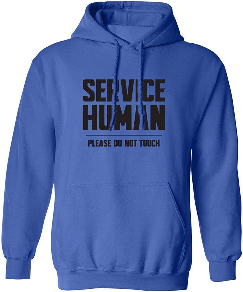 Service Human:Please Do Not Touch Adult Hooded Sweatshirt