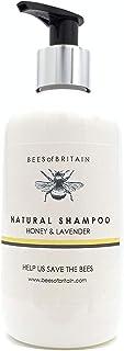 NATURAL - CHAMPÚ Con MIEL & LAVANDA - 250 ml - por BEES of BRITAIN - Sin Sulfatos Sin Parabenos Sin Silicona. Donamos el...