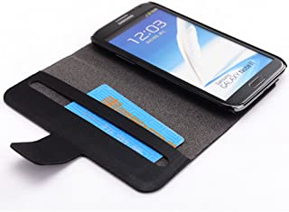 Kroo Slim Folio Case for Samsung Galaxy Note 2 - 1 Pack - Frustration-Free Packaging - Black