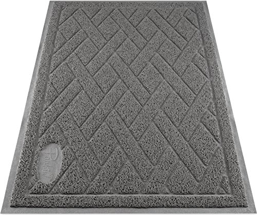 Pawkin Cat Litter Mat, Patented Design with Litter...
