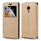 Meizu Pro 5 Case, Wood Grain Leather Case with Card Holder