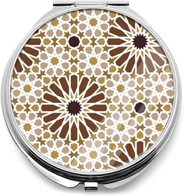 35% OFF Moroccan Pattern Compact Mirror Fol Round Double-Sided ...