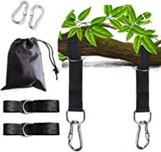 OUTERA Hammock Straps,Adjustable Black Hammock Straps(Set of 2),Tree Swing Straps Hanging Kit,9.8 ft Long Combined Easy to Set up Outdoor Swing Belt,Stretch Heavy Duty Lightweight Straps for Hammock