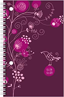 Blueline Weekly Academic Planner, July 2014 - July 2015, 8 x 5 inches, Poly Cover, Blossom, Assorted Designs, Design May Vary, 1 Planner (CA101PG.ASX-15)