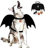Legendog Dog Bat Wings, Halloween Costumes for Dogs, Pet Costume, Bat Wings for Dogs with Dog Leash and Pumpkin Bells,...