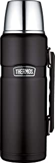 Thermo Thermosfles Stainless King, 1.2L Roestvrij Staal, Mat Zwart
