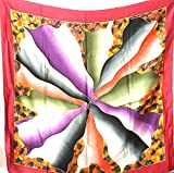 Handmade Extra Large 100% Luxurious Charmeuse Silk Scarf Shawl Wrap A1185