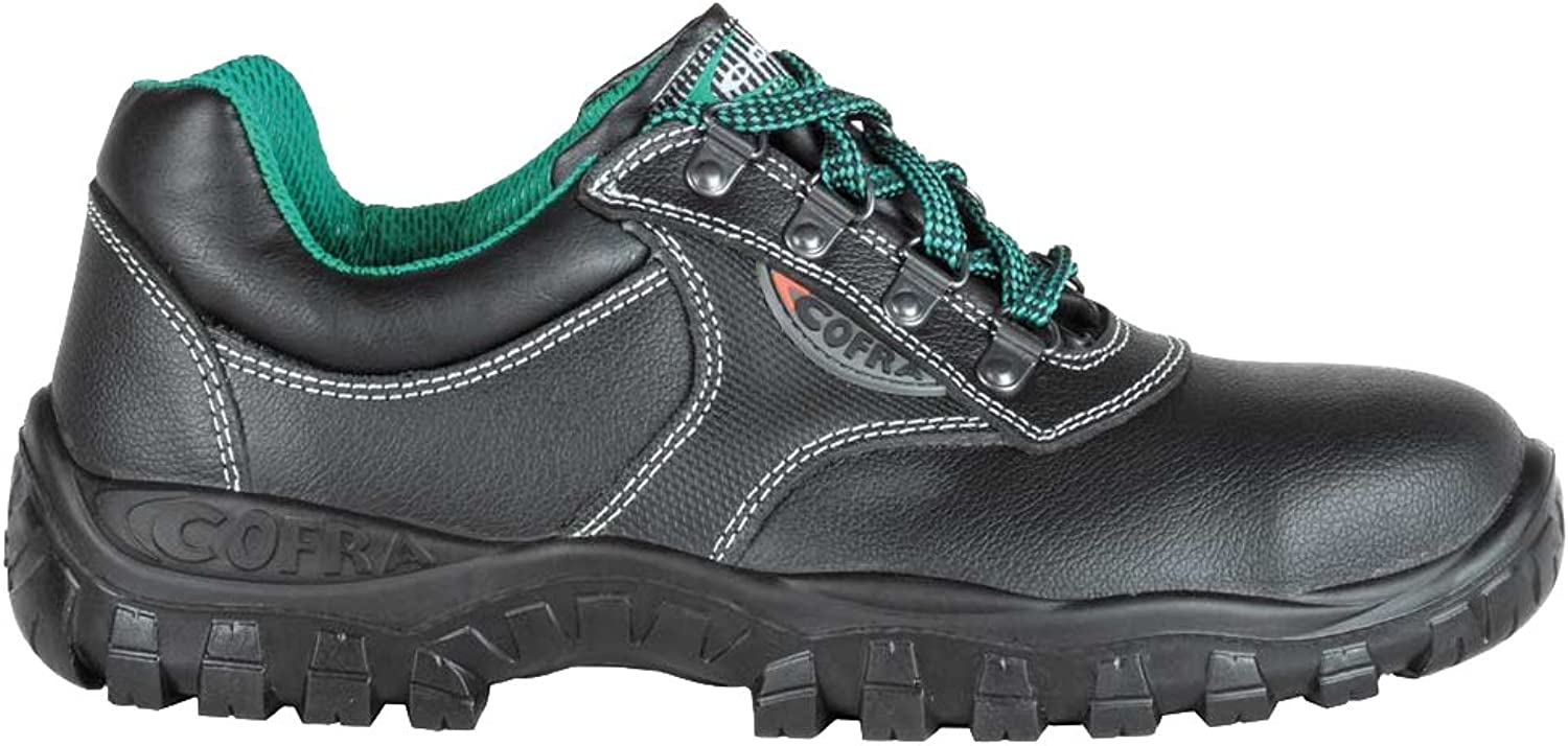 Cofra TA010-000.W47 Work shoes,  Antares , Size 12, Black - EN safety certified