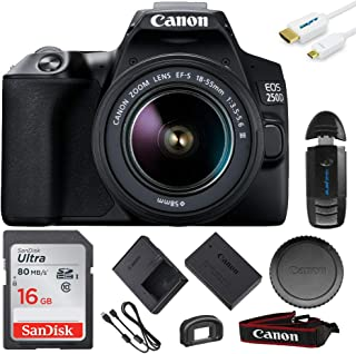 EOS 250D DSLR Camera with EF-S 18-55mm Lens - 16GB Expo Basic Accessories Kit