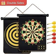 Safety Magnetic Dartboard Board Game Set -Two Sided Bullseye Dartboard,17 Inch Dart Board..