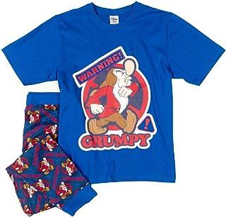 TDP Textiles Mens Grumpy Seven Dwarfs Warning Pyjamas