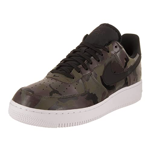 4f8a6fb43448 Nike Mens Air Force 1  07 Low Camo Shoes Medium Olive Baroque Brown