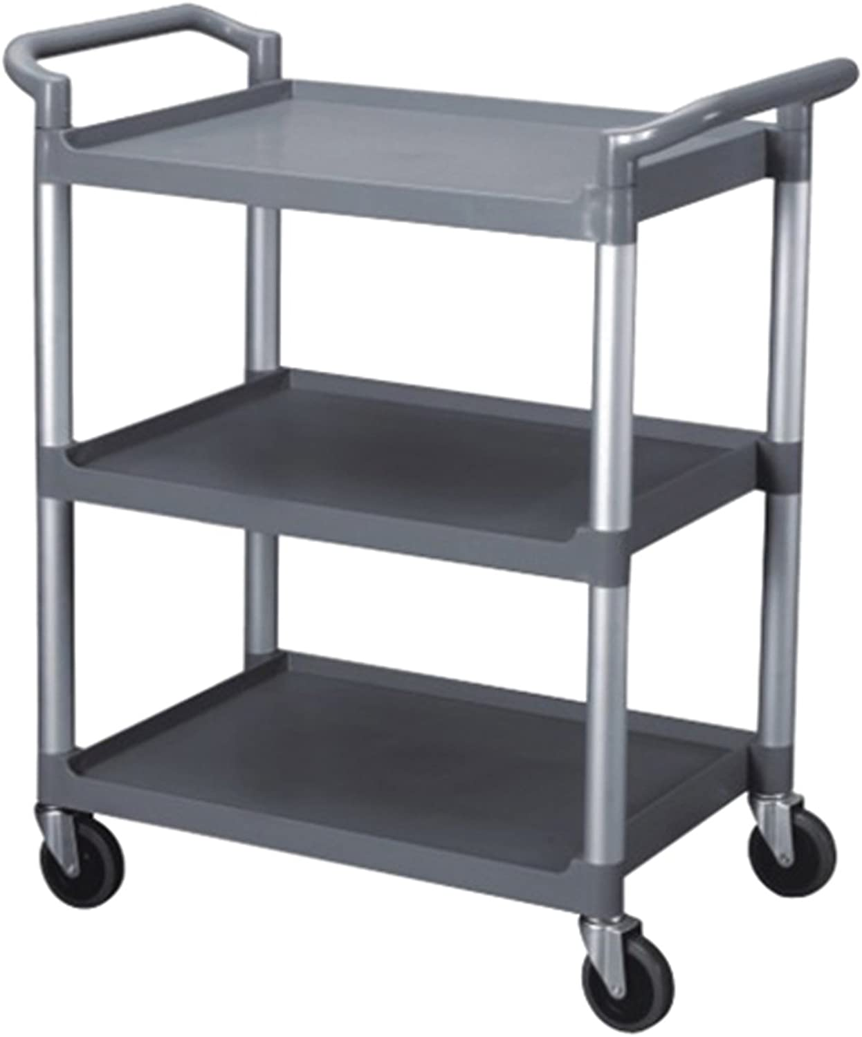 Excellante 40-1 2-Inch by 19-3 4-Inch by 37-7 8-Inch, 3-Tier Bus Cart, Grey