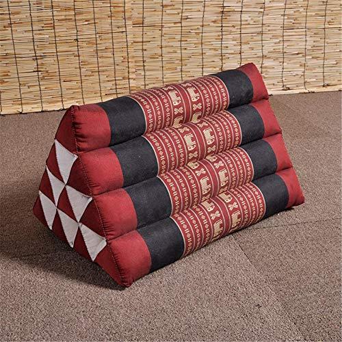 Natural Kapok Triangle Cushion,Almohadas De Lectura De Tatami,Respaldo Sofá Lumbar Almohada con Cojín De Cojín De Núcleo Cojín Lumbar Cojín De Alféizar Flotante-A 50x33x28cm