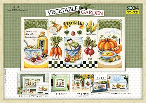 SO-G27 Sale special price 2021 autumn and winter new VEGETABLE GARDEN SODA Cross leaflet Pattern Stitch auth