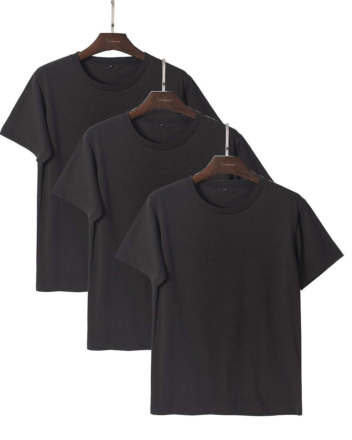 夏定常許容できるJinsX メンズファッション Tシャツ 半袖 3枚組 Tシャツ 無地 Tシャツ オーガニックコットン 吸汗速乾 Tシャツ 綿100% 男女兼用 3枚組