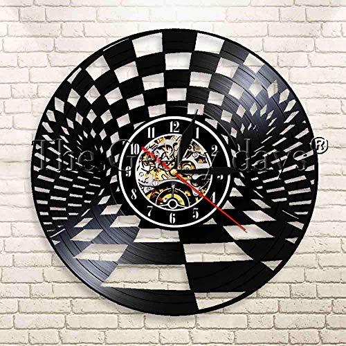 LTOOD 1 stuk Schaken Bordspel Ontwerp Vinyl Record Wandklok Schaken Strategie Huisdecoratie Muur Opknoping Art Moderne Wandklok