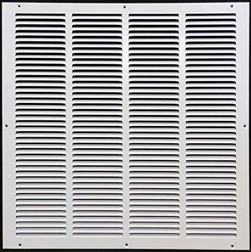 24'w X 24'h Steel Return Air Grilles - Sidewall and Ceiling - HVAC Duct Cover - White [Outer Dimensions: 25.75'w X 25.75'h]