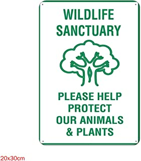 xsvclfqs Wildlife Sanctuary Metal Tin Signs Decor Home Decor tin Poster