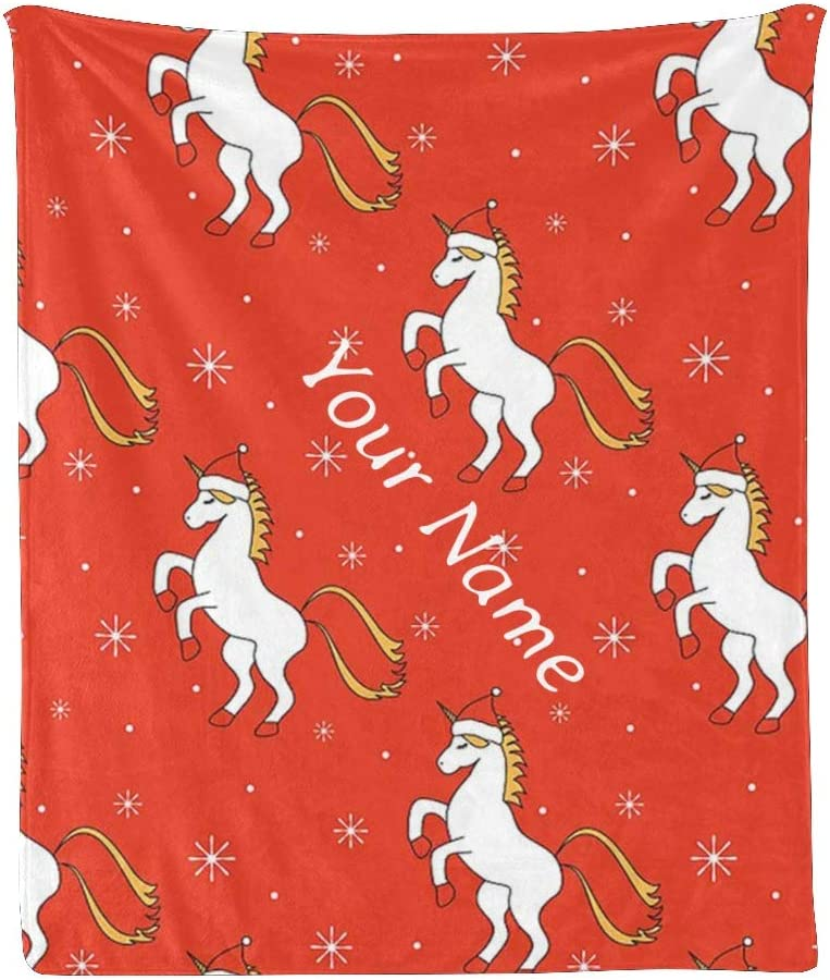 Custom Blanket with ! Super beauty product restock quality top! Name Ranking TOP11 Text Chrismas Unicorn Snow Personalized