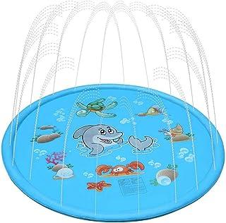 VGEBY1 Colchoneta para Juegos de Salpicaduras, Juego de Agua Inflable de Verano Juego de rociadores de Agua al Aire Libre para niños pequeños Niños pequeños(170 * 170cm)