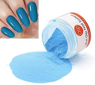 Steel Blue Dipping Powder (Added Vitamins) I.B.N Nail Dip Acrylic Powder, 1 Ounce (DIP 017)