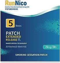 RunNico 21mg Nicotine Patches 35Pcs Stop Smoking Aid Nicotine Transdermal System Step 1 2 3